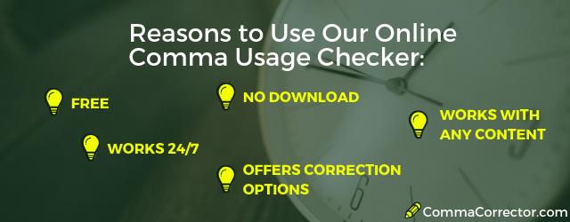 correct comma usage checker software