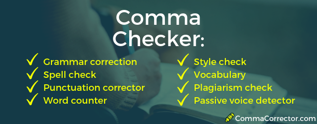 free online comma checker app